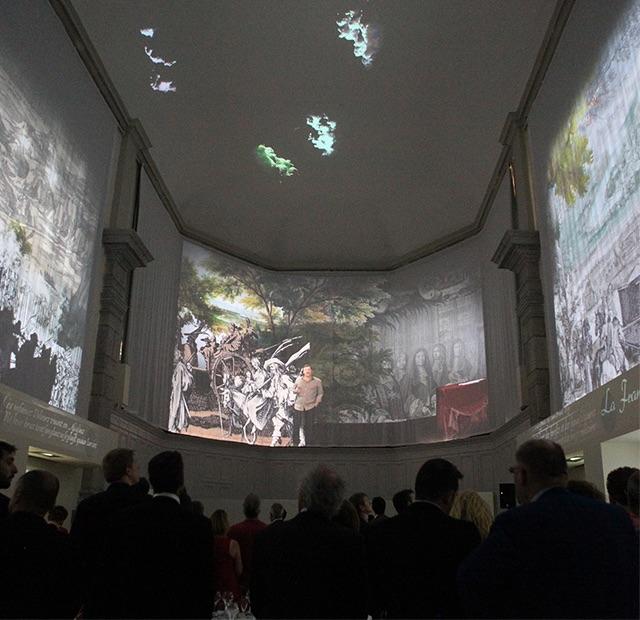 Vue intérieur de la chapelle Saint-Étienne et de son spectacle multimédia historique