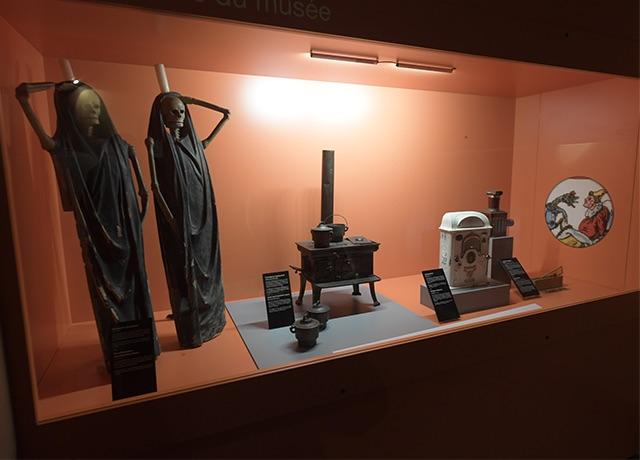 Photo d'une partie de la collection du musée Comtois