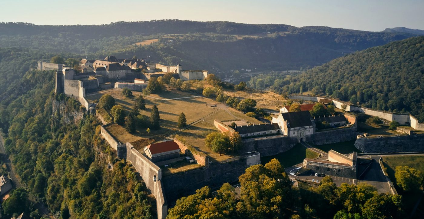 Vue drone de la Citadelle de Besançon